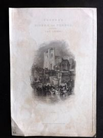 Turner Rivers of France C1840 Antique Print. Title Page - Nantes